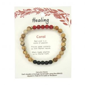Wellness Stone Bracelet Red Coral