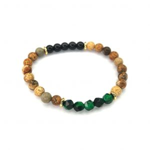 Wellness Stone Bracelet Green Tiger's Eye