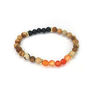 Wellness Stone Bracelet Orange Agate
