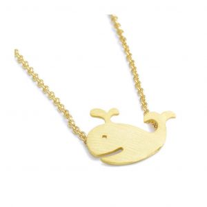 Brass Plated Whale Necklace