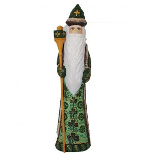 Unique Russian Hand Carved and Painted Wooden Irish Santa/grandfather Frost 10