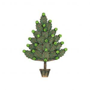 Large Green Christmas Tree Brooch Pin