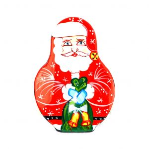 Unique Russian Hand Painted Santa Christmas Pin/brooch