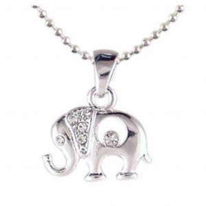 Elephant Crystal Necklace