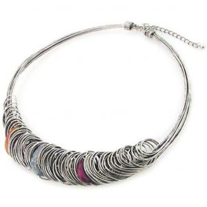 Chunky Wire  Metal Statement Necklace