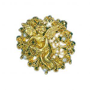 Gold Angel Brooch Pin