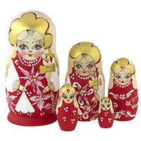 Handmade Nesting Dolls from Russia
